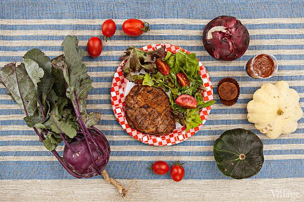 Магазин «Клевер»: десерты из собственной кулинарии (не фермерские), овощи и салаты с фермы, мясо на гриле. . Изображение № 9.