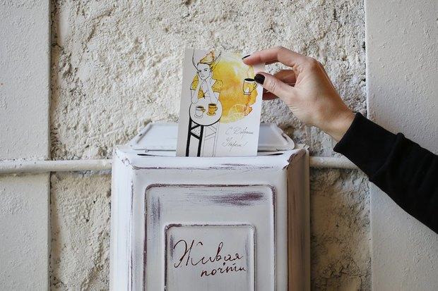 В «Буше» теперь можно отправить открытки силлюстрациями петербургских художников. Изображение № 1.