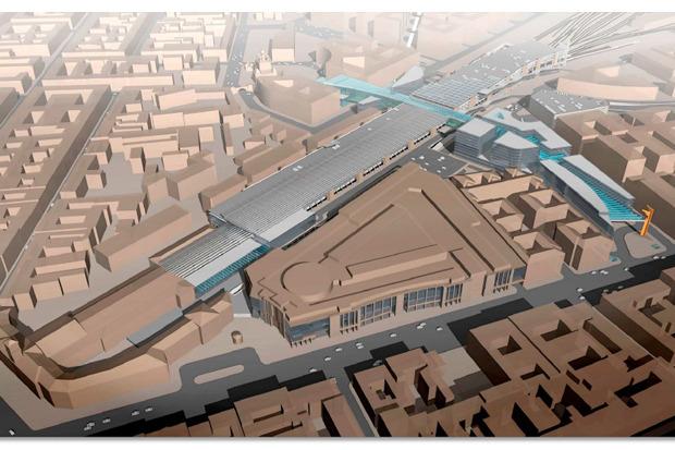 Предпроектные проработки вокзального комплекса на месте Московского вокзала в Петербурге. Изображение № 1.