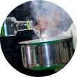 Omnivore Food Festival: Иван Березуцкий готовит суп из черноплодной рябины и нутрию в бересте. Изображение № 22.