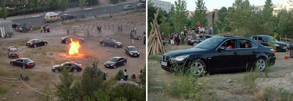 Проект из 8 BMW — работа группы для Берлинского биеннале искусства 2008 года. Это протест против экономического детерминизма.. Изображение № 10.
