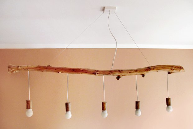 Своими руками: Сделать лампу из коряги. Изображение № 1.