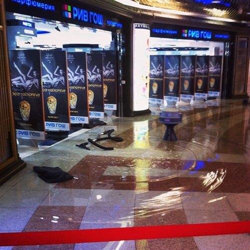 Из-за ливня затопило верхний этаж торгового центра «Охотный Ряд». Изображение № 2.