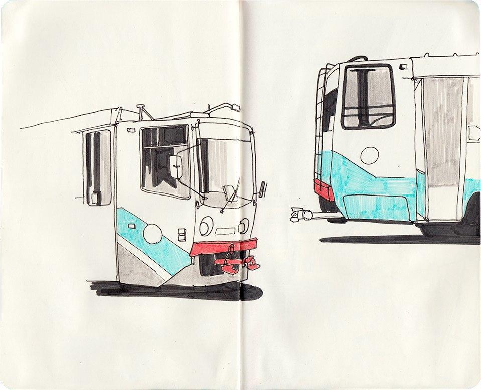 Клуб рисовальщиков: Московские трамваи. Изображение № 7.