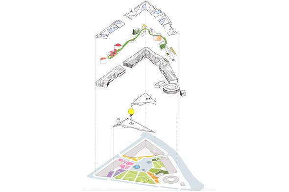 Развертка эскиза концепции бюро Work AC. Иллюстрация: «Ирис Новая Голландия». Изображение № 42.