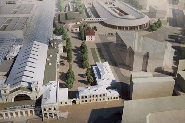 Опубликован проект железнодорожного музея на Балтийском вокзале. Изображение № 1.
