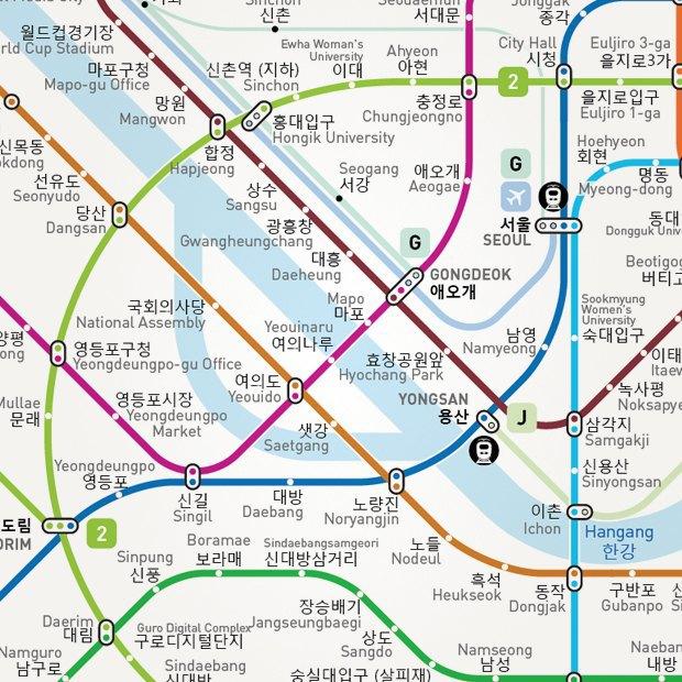 Французский дизайнер нарисовал свою схему московского метро. Изображение № 6.