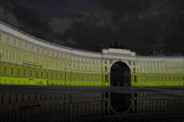 На ночь глядя: 12 проектов подсветки Главного штаба. Изображение № 54.