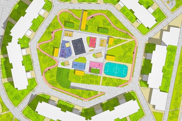 UrbanUrban и «Вышка» обустроят двор в Тропарёве-Никулине. Изображение № 1.