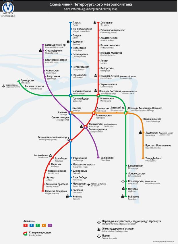 Карты на стол: 11 альтернативных схем петербургского метро. Изображение №22.