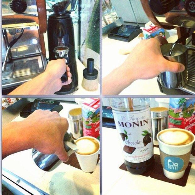 Кофемобиль Bo Coffee обзавёлся стационарной точкой у «Горьковской». Изображение № 1.