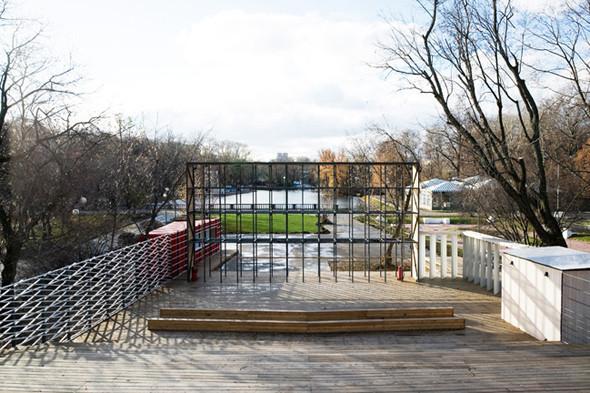 Деревянная архитектура: Летний «Пионер», офис ВТБ и шахматный клуб в Нескучном саду. Изображение № 4.