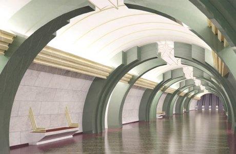 В сети появились эскизы станций коричневой ветки метро. Изображение № 10.