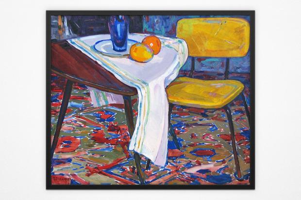 Пётр Столяренко, натюрморт с жёлтым стулом, 1968 год. Изображение № 11.