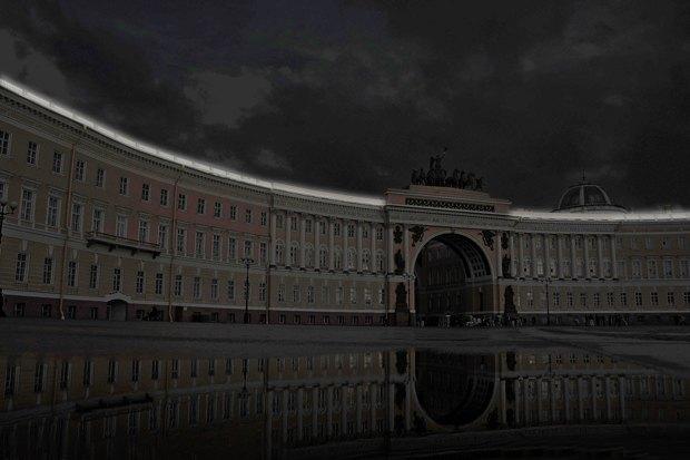 На ночь глядя: 12 проектов подсветки Главного штаба. Изображение № 55.