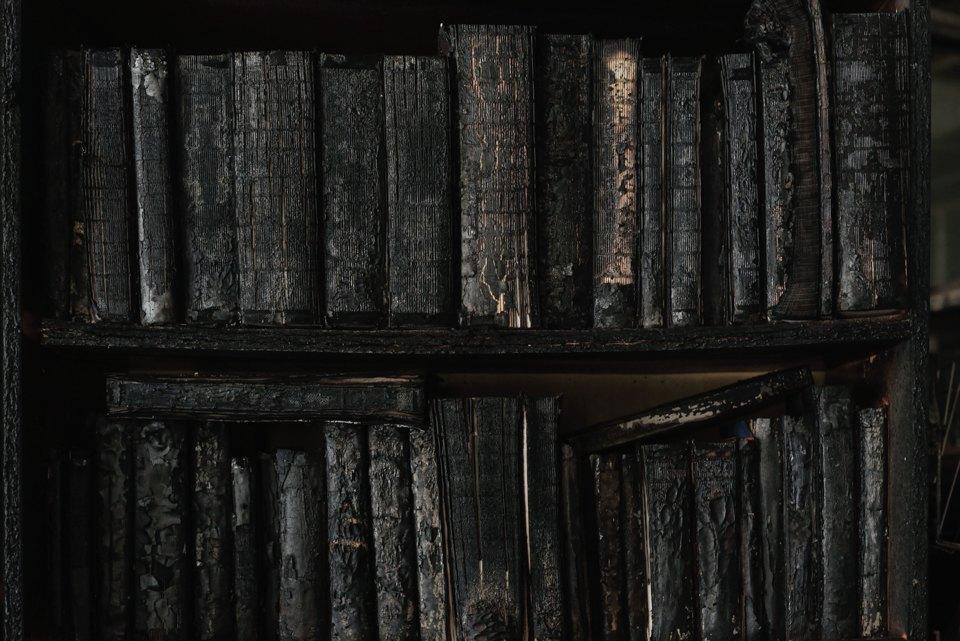 Как выглядит библиотека ИНИОН РАН через 9 дней после пожара