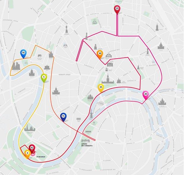 Определён маршрут Московского марафона. Изображение №1.