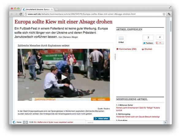 Взгляд со стороны: Иностранные СМИ о Евро, взрывах и Украине. Зображення № 3.