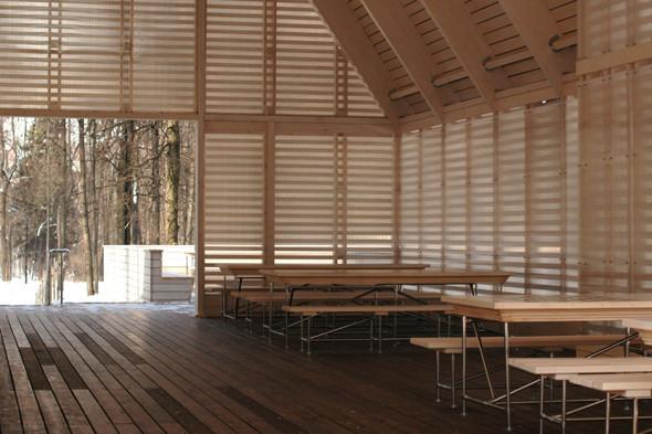 Деревянная архитектура: Летний «Пионер», офис ВТБ и шахматный клуб в Нескучном саду. Изображение № 29.