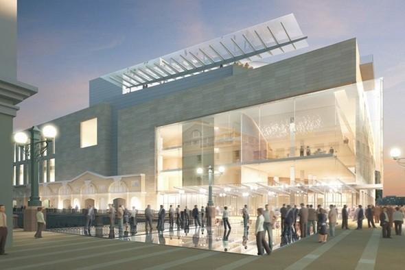 Вид на новую сцену от главного здания Мариинского театра. Изображение № 29.