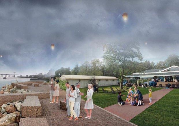 Опубликована визуализация набережной южной части Крестовского острова без ресторанов. Изображение № 7.