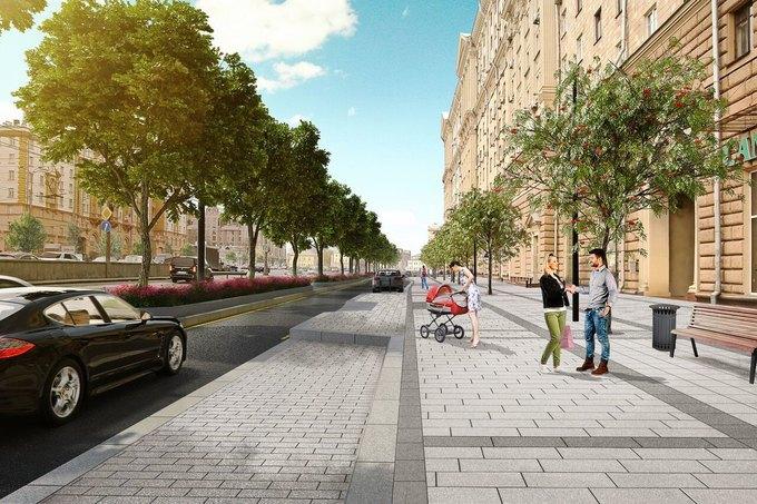 Визуализация проекта реконструкции Новинского бульвара. Изображение № 7.