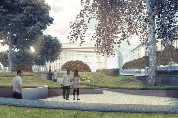 Суд идёт: четыре проекта квартала на месте «Набережной Европы». Изображение № 19.