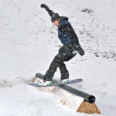 На Осокорках открыли площадку для сноубордистов. Зображення № 1.