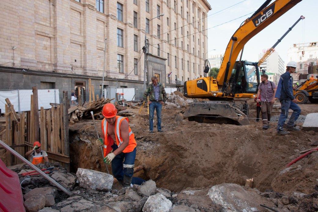Её раскопали: Пешеходные улицы Москвы за месяц до открытия. Изображение № 35.