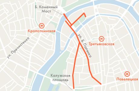 12 июня несколько улиц в центре Москвы перекроют. Изображение № 1.