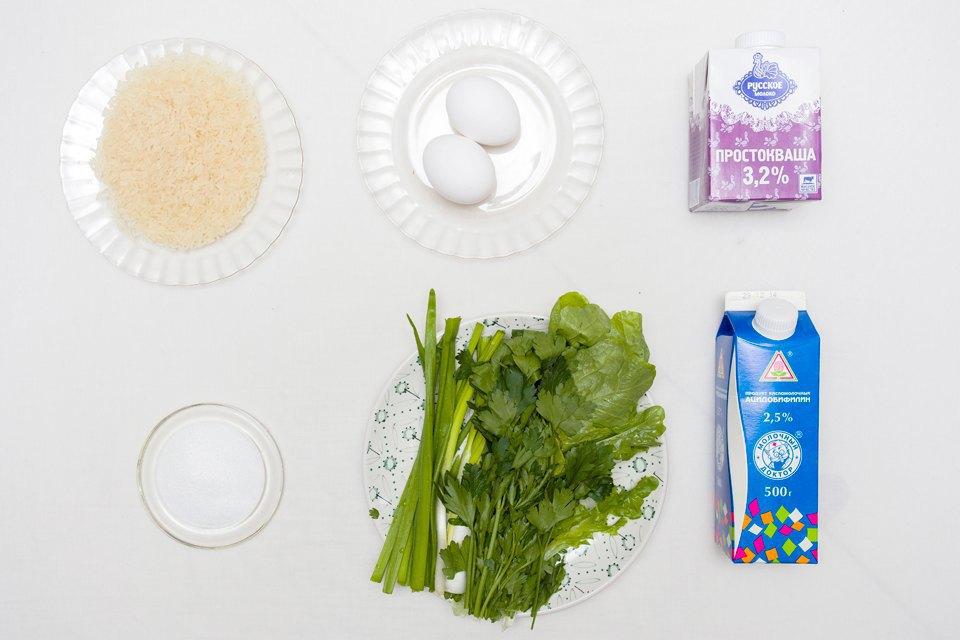 Довга: яйца, соль, рис, простокваша, ацидобифилин, зелень (шпинат, лук, петрушка, укроп, кинза).. Изображение № 23.