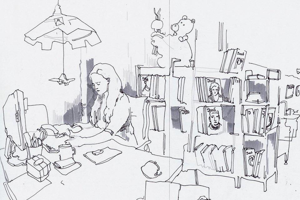 Московские офисы врисунках Лизы Смирновой. Изображение № 3.