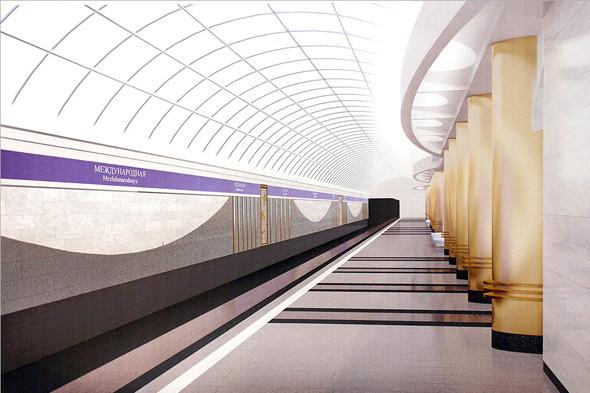 Станция метро «Международная». Изображение № 7.