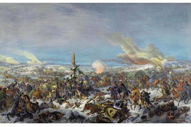 Франсуа Жозеф Дюпрессуар. «Переход французской армии через Березину в 1812 году». Изображение № 1.