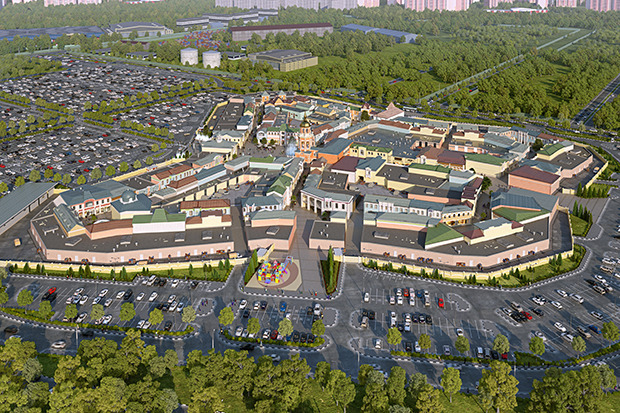 Outlet Village Белая Дача в макете. Изображение № 18.