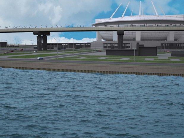 Опубликована часть проекта набережной около «Зенит-арены». Изображение № 3.
