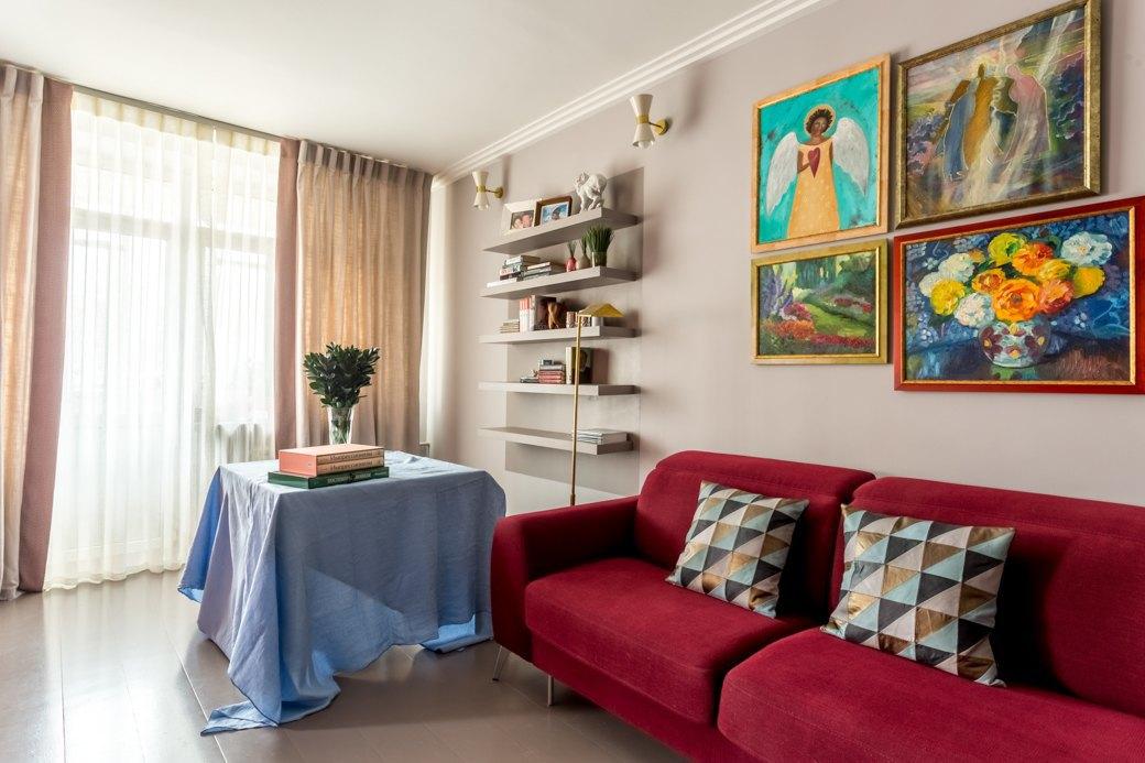 Квартира с яркими акцентами длябольшой семьи. Изображение № 1.