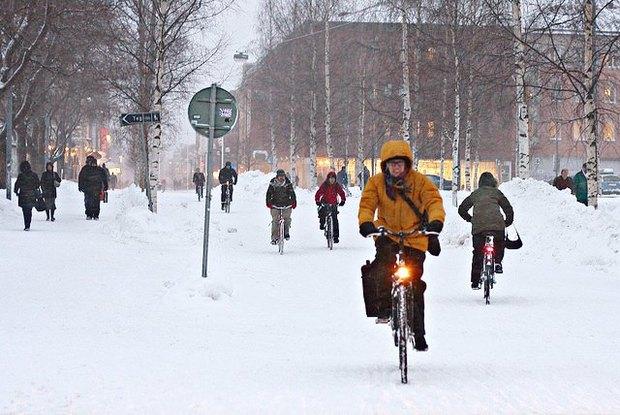 Консультант мэрии финского Оулу — о зимнем велодвижении. Изображение № 7.