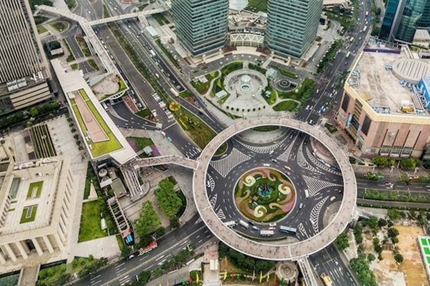 Идеи для города: Круглый пешеходный мост в Шанхае. Изображение № 9.