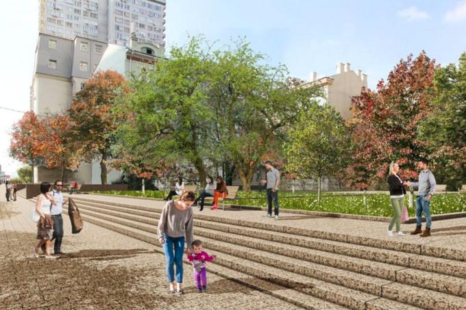 Визуализация реконструкции Нового Арбата. Фото предоставлены КБ . Изображение № 4.