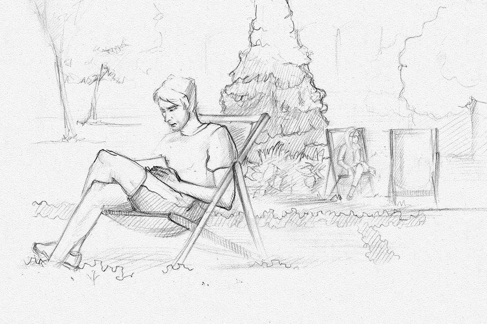 Клуб рисовальщиков: Сад «Эрмитаж». Изображение № 5.