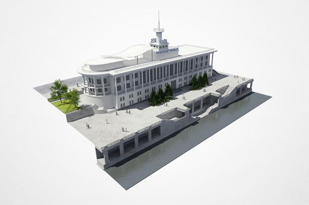Реконструкция: Как будет выглядеть Речной вокзал. Изображение № 1.