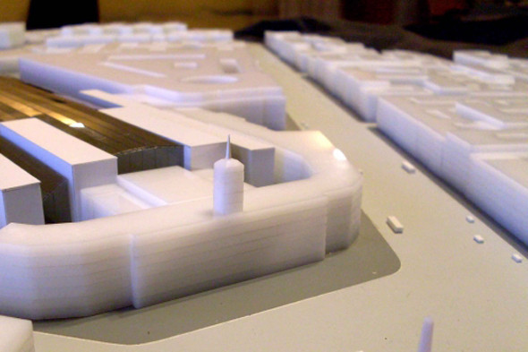 Платформа для скоростных поездов. Макет «Студии 44». Изображение № 8.