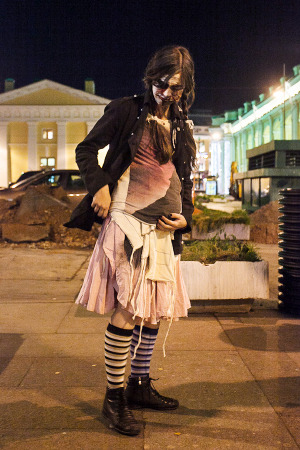 Люди в городе: Хеллоуин вПетербурге. Изображение № 8.