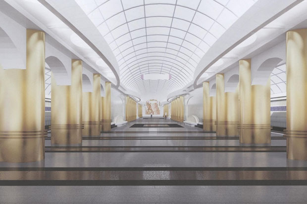 Перспектива центрального зала «Международной». Изображение № 2.
