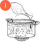 Рецепты шефов: Крем-суп из цукини и мяты с мясом утки и творожным сыром. Изображение № 3.