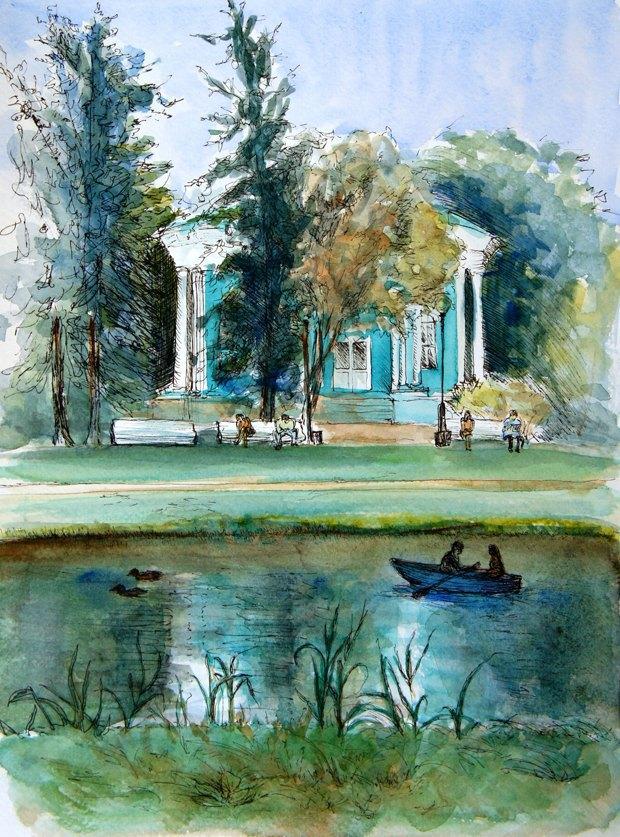 Клуб рисовальщиков: Екатерининский парк. Изображение № 2.