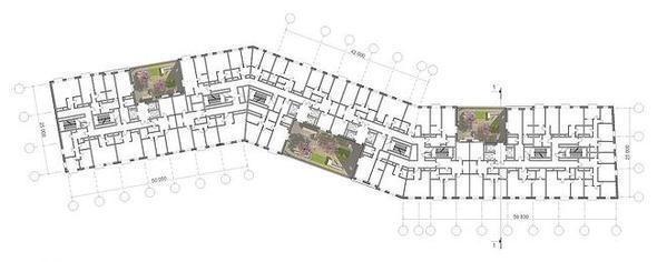 Изображение 6. В Москве построят многоэтажку с зелёными дворами на разных этажах.. Изображение №6.