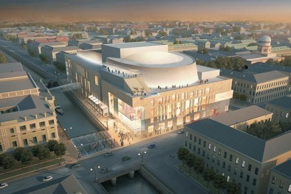 Общий вид новой сцены Мариинского театра. Изображение № 27.