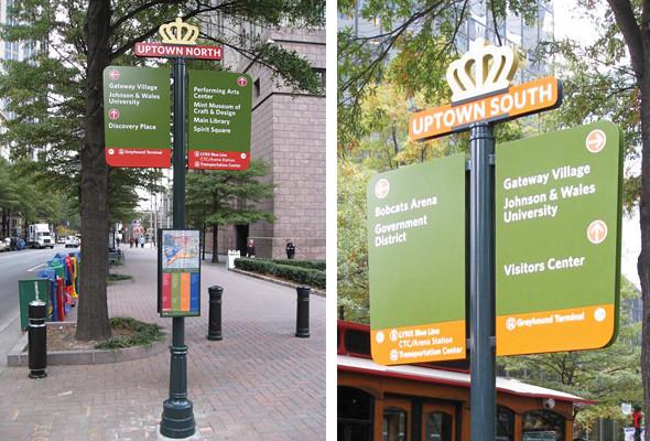 Дорожные знаки и уличные указатели в различных частях города имеют соответствующий окрас, сообщающий приезжим их местонахождение.. Изображение № 25.